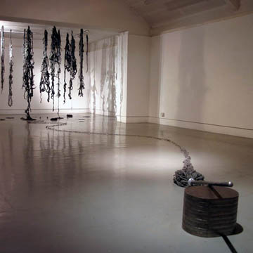 Sanitise. Steel, steel wool. Dimensions variable.jpg